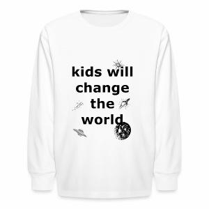Change the World - Kids' Long Sleeve T-Shirt