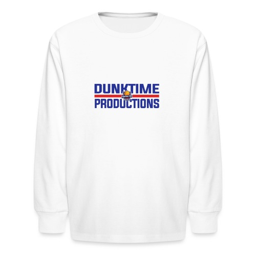 DUNKTIME Retro logo - Kids' Long Sleeve T-Shirt