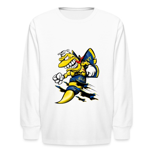 Cartoon Blue Angels F/A-18 Hornet - Kids' Long Sleeve T-Shirt