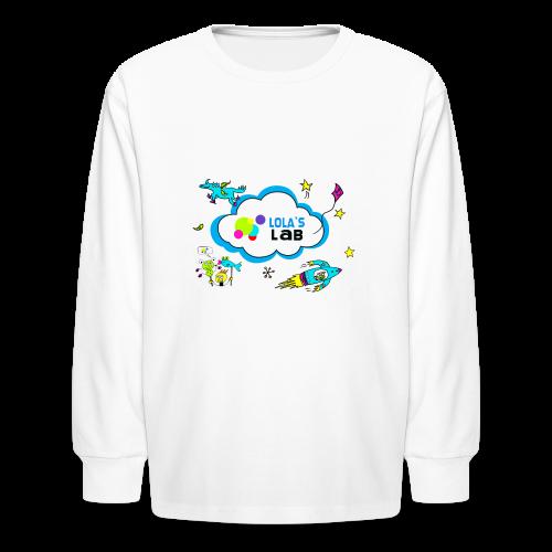 Lola's Lab illustrated logo tee - Kids' Long Sleeve T-Shirt