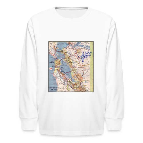 Phillips 66 Zodiac Killer Map June 26 - Kids' Long Sleeve T-Shirt