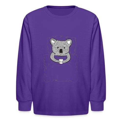 Print With Koala Lying In A Bed - Kids' Long Sleeve T-Shirt