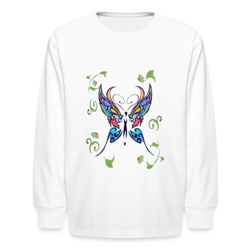 Bright Butterfly - Kids' Long Sleeve T-Shirt