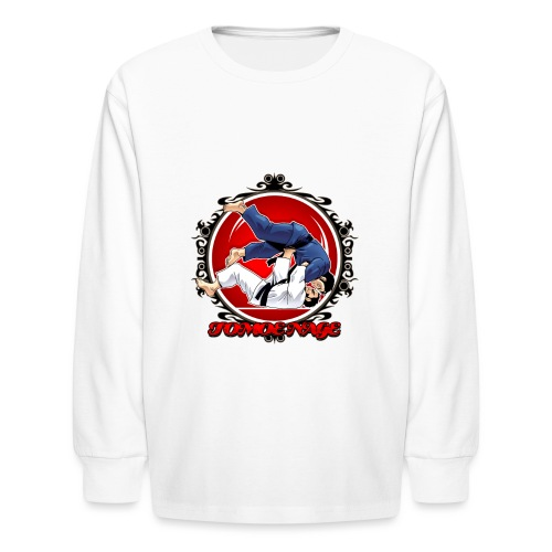 Judo Throw Tomoe Nage - Kids' Long Sleeve T-Shirt