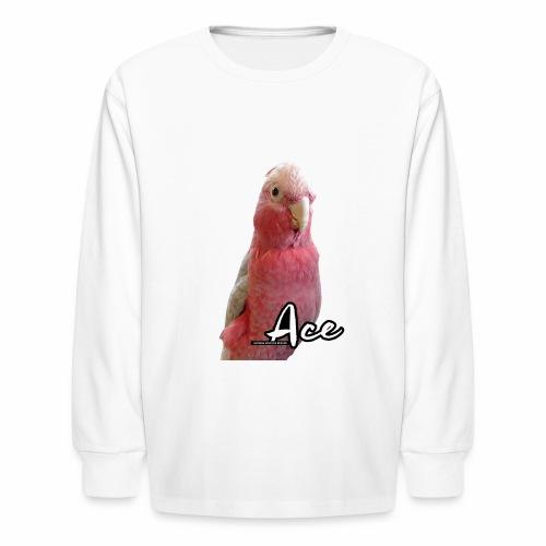 Pink Parrot - Kids' Long Sleeve T-Shirt