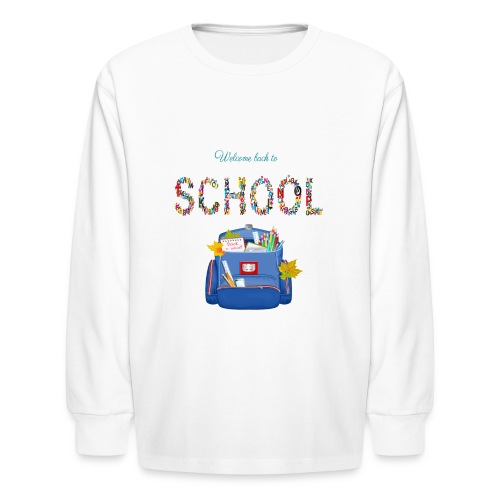 welcome back to school kids 2019 - Kids' Long Sleeve T-Shirt