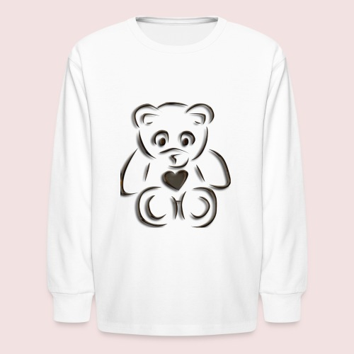 realistic teddy - Kids' Long Sleeve T-Shirt