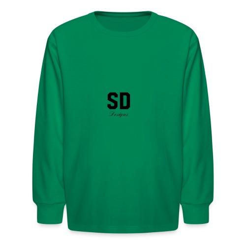 SD Designs blue, white, red/black merch - Kids' Long Sleeve T-Shirt