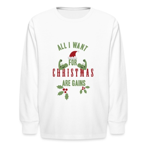 All i want for christmas - Kids' Long Sleeve T-Shirt