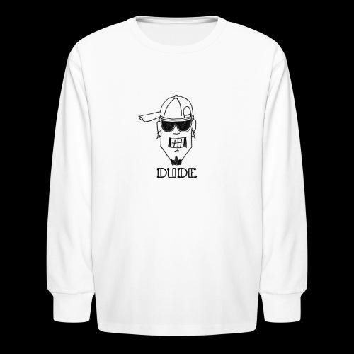 Dude Head 2 - Kids' Long Sleeve T-Shirt