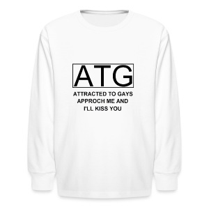 ATG Attracted to gays - Kids' Long Sleeve T-Shirt