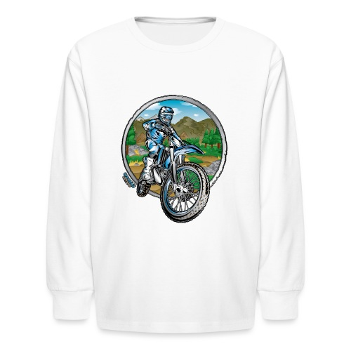 Supercross Motocross Shirt - Kids' Long Sleeve T-Shirt