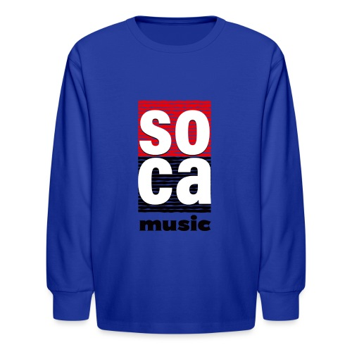 Soca music - Kids' Long Sleeve T-Shirt