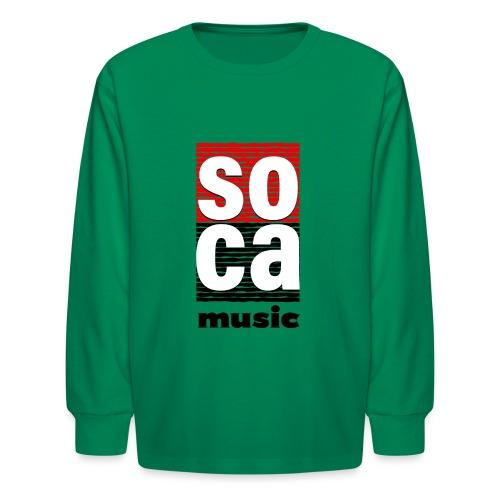 Soca music - Kids' Long Sleeve T-Shirt