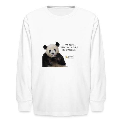 Endangered Pandas - Josiah's Covenant - Kids' Long Sleeve T-Shirt