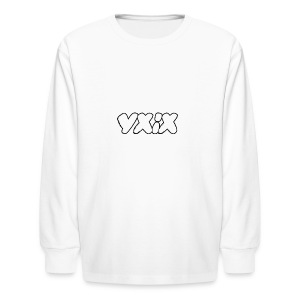 YXIX logo - Kids' Long Sleeve T-Shirt