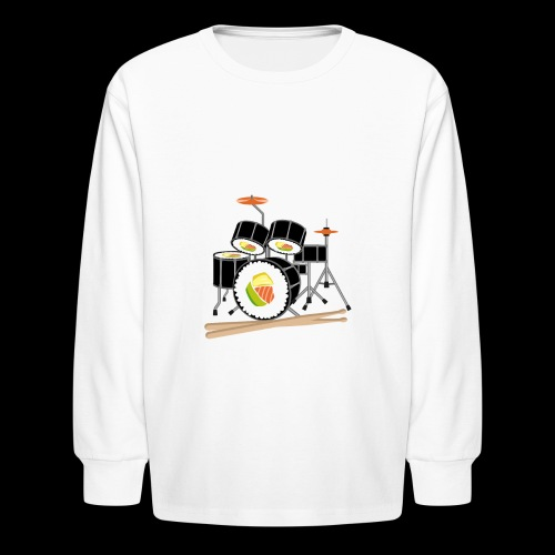 Sushi Roll Drum Set - Kids' Long Sleeve T-Shirt