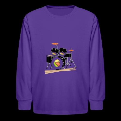 Sushi Roll Drum Set - Kids' Long Sleeve T-Shirt