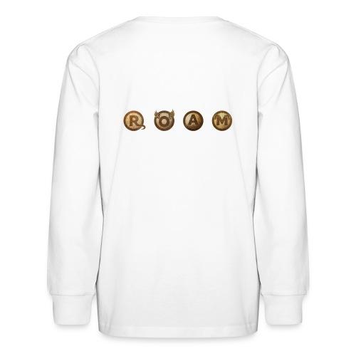 ROAM letters sepia - Kids' Long Sleeve T-Shirt