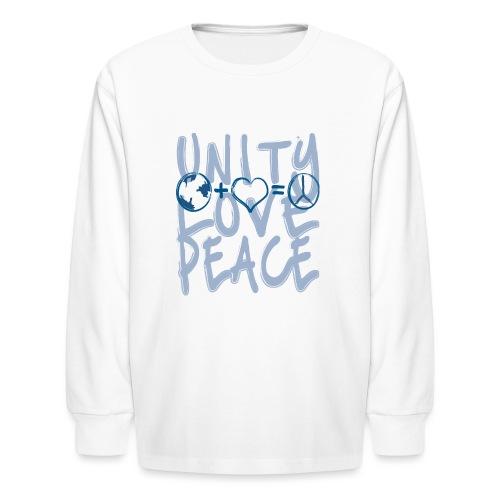 Unity Love Peace - Kids' Long Sleeve T-Shirt
