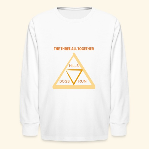 Run4Dogs Triangle - Kids' Long Sleeve T-Shirt