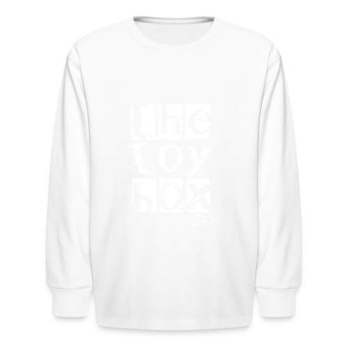 The Toy box Studio - White Logo - Kids' Long Sleeve T-Shirt