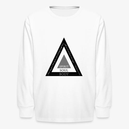 Spirit Soul Body - Kids' Long Sleeve T-Shirt