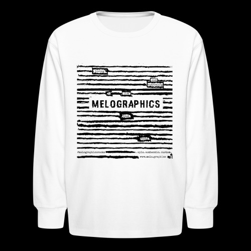 MELOGRAPHICS | Blackout Poem - Kids' Long Sleeve T-Shirt