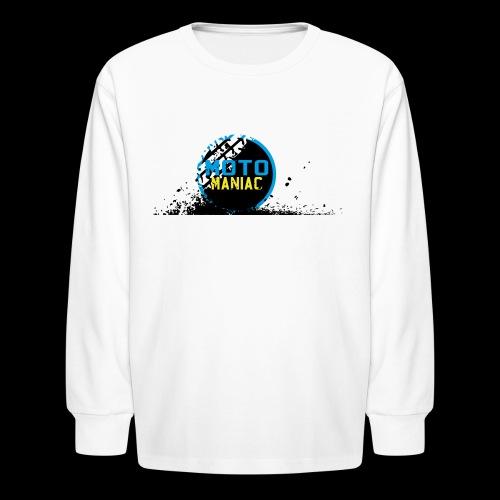 MotoManiac's tracks - Kids' Long Sleeve T-Shirt