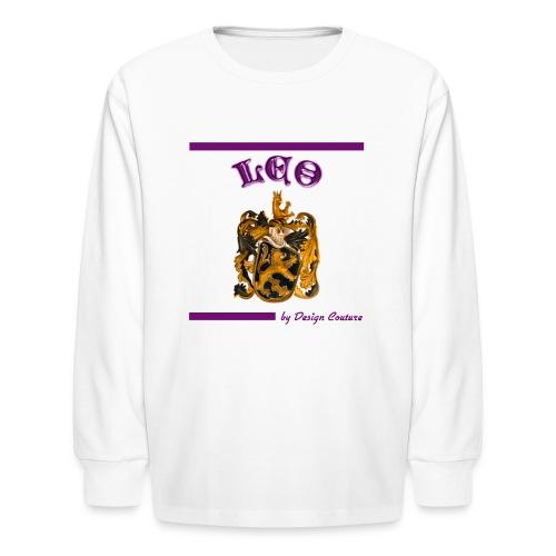 LEO PURPLE - Kids' Long Sleeve T-Shirt