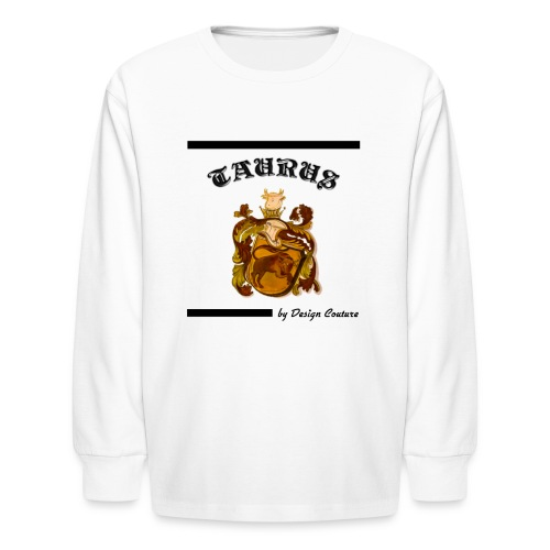 TAURUS BLACK - Kids' Long Sleeve T-Shirt