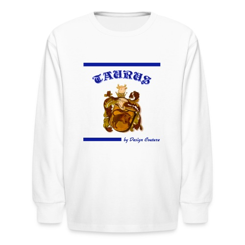 TAURUS BLUE - Kids' Long Sleeve T-Shirt