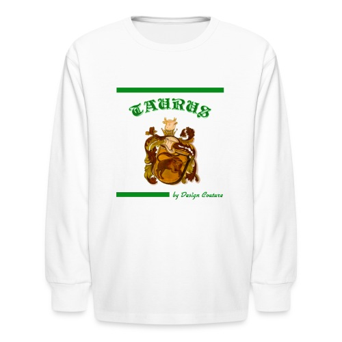 TAURUS GREEN - Kids' Long Sleeve T-Shirt