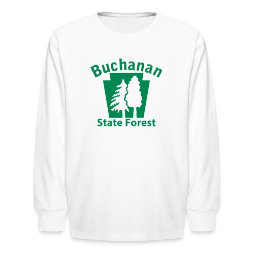 Buchanan State Forest Keystone (w/trees) - Kids' Long Sleeve T-Shirt