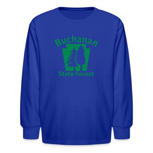 Buchanan State Forest Keystone (w/trees) - Kids' Long Sleeve T-Shirt