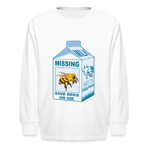 Missing Bees - Kids' Long Sleeve T-Shirt