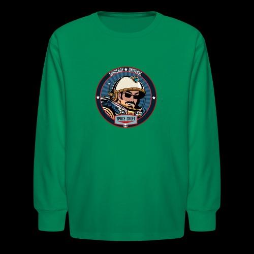 Spaceboy - Space Cadet Badge - Kids' Long Sleeve T-Shirt