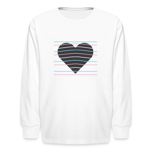 Trans Heart - Kids' Long Sleeve T-Shirt