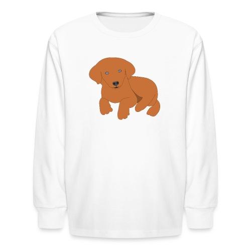 Golden retriever dog - Kids' Long Sleeve T-Shirt