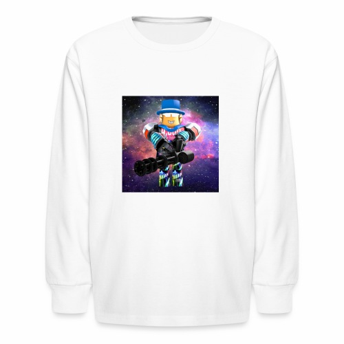 sean roblox character with minigun - Kids' Long Sleeve T-Shirt
