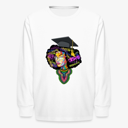 Black Educated Queen School - Kids' Long Sleeve T-Shirt