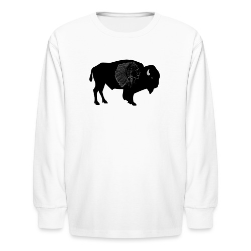 Buffalo warrior - Kids' Long Sleeve T-Shirt