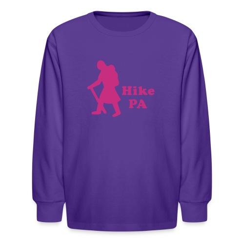 Hike PA Girl - Kids' Long Sleeve T-Shirt