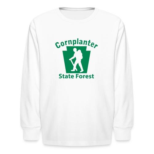 Cornplanter State Forest Keystone Hiker male - Kids' Long Sleeve T-Shirt