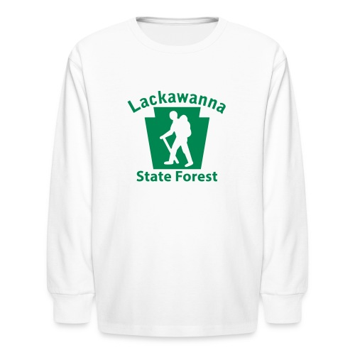 Lackawanna State Forest Keystone Hiker male - Kids' Long Sleeve T-Shirt