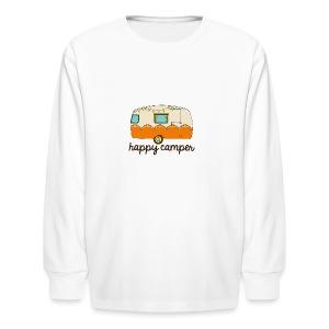 Happy Camper - Kids' Long Sleeve T-Shirt