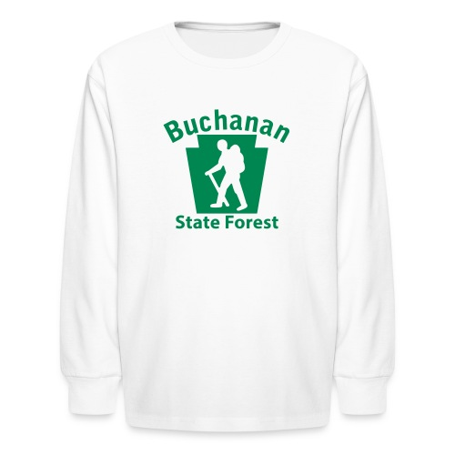 Buchanan State Forest Keystone Hiker male - Kids' Long Sleeve T-Shirt
