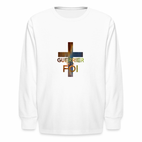 WARRIOR OF FAITH - Kids' Long Sleeve T-Shirt