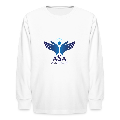 3459 Angelman Logo AUSTRALIA FA CMYK - Kids' Long Sleeve T-Shirt