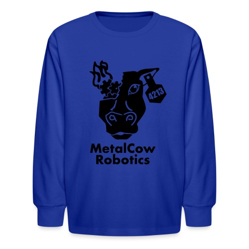 MetalCow Solid - Kids' Long Sleeve T-Shirt